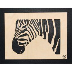 3D-s Zebra falikép