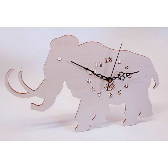 ++Lézervágott natúr mammut óra sweep óraszerkezet++