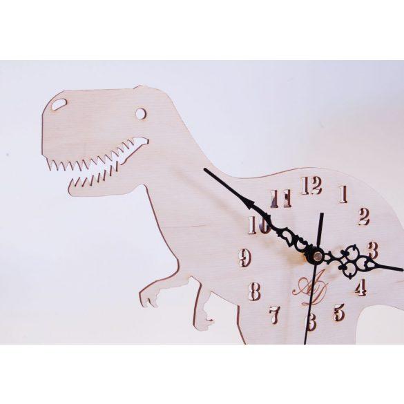 ++Lézervágott natúr dínós óra sweep óraszerkezet++
