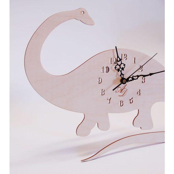 ++Lézervágott natúr dínós óra sweep óraszerkezet, Ingyenes posta++