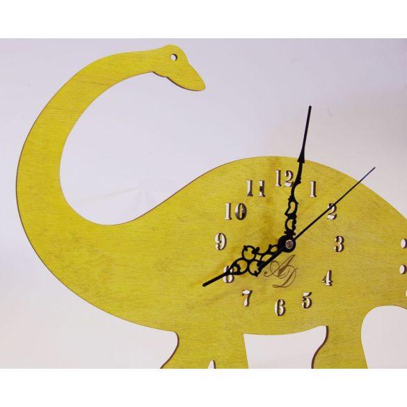 ++Lézervágott napsárga dínós óra sweep óraszerkezet++