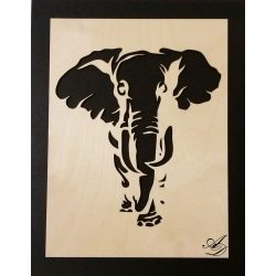 3D-s Elefánt falikép