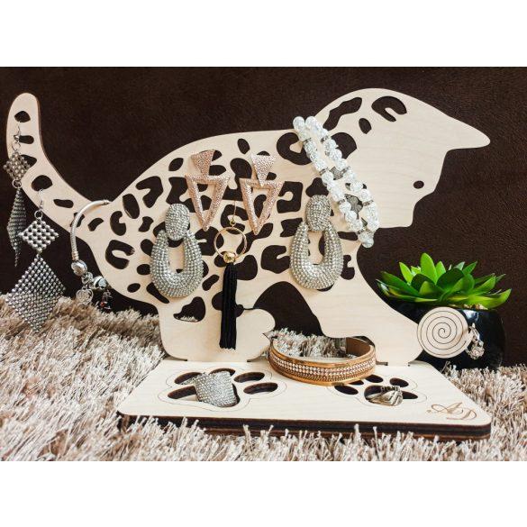 Fa ékszertartó ,cica, macska, gombolyag,...