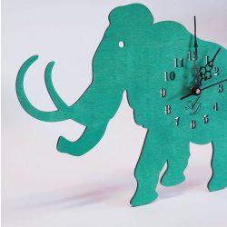 ++Lézervágott türkíz mammut óra sweep óraszerkezet, Ingyenes posta++