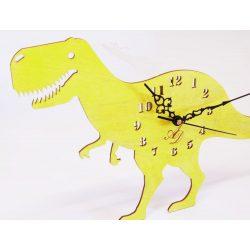 ++Lézervágott napsárga dínós óra sweep óraszerkezet, Ingyenes posta++
