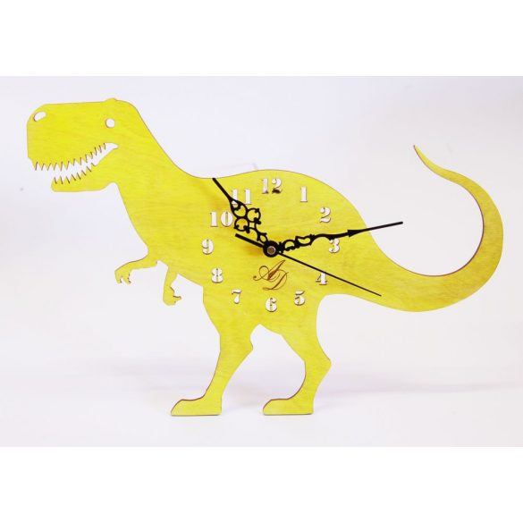 ++ Laser Cut yellow sun Dinos sweep clock watch, free postage ++